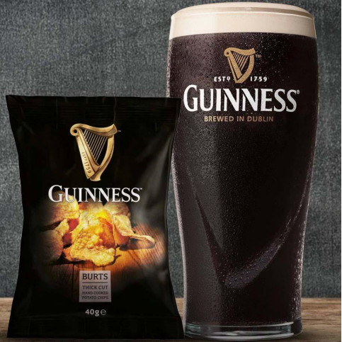 HAND COOKED CRISPS - Burts Guinness~Large 10 x 150g