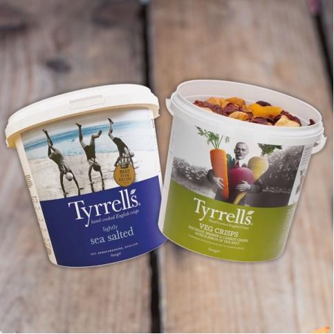 HAND COOKED CRISPS - Tyrrells Large Tubs